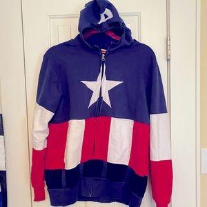 Captain America Hoodie W/ Built-In Hero Mask
